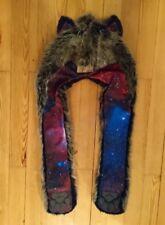 Spirithhoods Galaxy Wolf 2.0 fell gorra Fake fur gorros como nuevo!