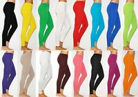 Womens Thick Warm Full Length Cotton Leggings UK Size 6-26 & All Colours