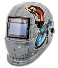 TITAN #41288: Wide-View Solar Powered Welding Helmet. PIN-UP GIRL Design.