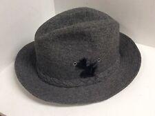Stetson mens gray wool hat size XL fedora union label Vintage R24