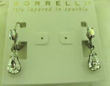 Sorrelli White Bridal Earrings EBF20ASWBR antique silver tone