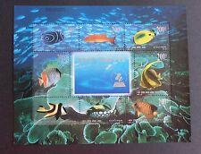 China 1998 22nd Congreso de la UPU China 99 MS4354 Peces Vida Marina estampillada sin montar o nunca montada um desmontado