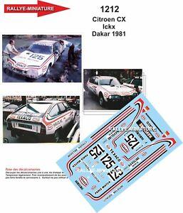 DECALS 1/24 REF 1212 CITROEN CX JACKY ICKX RALLYE PARIS DAKAR 1981 RALLY