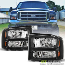 1999-2004 Ford F-250 F-350 Super Duty Excursion Conversion Harley Headlights Set