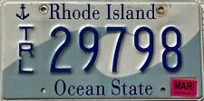GENUINE Rhode Island USA Trailer License Licence Number Plate Tag 29798