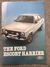 Ford Escort Harrier Mk2 Limited Edition 1979 UK Market Foldout Sales Brochure