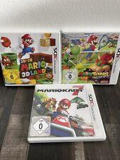 Nintendo 3DS Super Mario Sammlung Kart, 3D Land, Tennis 3 Spiele Games Top OVP