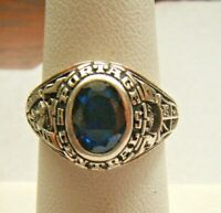 VINTAGE PORTAGE CENTRAL HIGH SCHOOL STERLING SILVER CLASS RING 1979