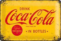 Coca Cola Refresh your Guests Blechschild Schild 3D geprägt Tin Sign 20 x 30 cm