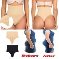 Women High Waist Panty Body Shaper Tummy Control Thong Underwear Boned Shapewear