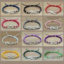 (1) Bracelet Unisex Fashion Infinity Charm Braided Adjustable Shamballa