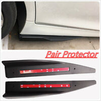 2Pcs Black Side Skirt Rocker Splitters Winglet Wings PROTECTOR STRIP GUARD Cover