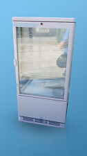 98L DRINK/CAKE 4 SIDE DIAMOND GLASS DISPLAY FRIDGE COOLER +LIGHT BOX  LOCK