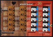 Ls9 Knock Knock Teddy bear/dennis el terrible Etiqueta Hoja.