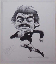 DAVE LOVERIDGE RUGBY NZ ALL BLACK SIGNED PRINT WITH COA