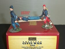 BRITAINS 31053 UNION STRETCHER BEARER AMERICAN CIVIL WAR METAL TOY SOLDIER SET 1