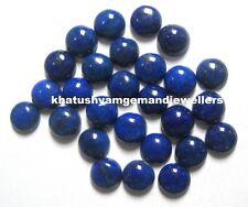 Lot Of 15 Pieces Natural Lapis Lazuli 11X11 M.M. Round Loose Cabochons Gemstones