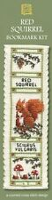 Red Squirrel Bookmark Counted Cross Stitch Kit Nature Animals Gift for Her