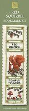 Red Squirrel Bookmark Cross Stitch Kit - Textile Heritage