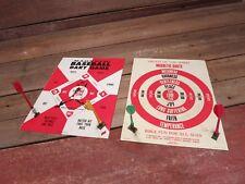 Vintage 1960's Magnetic Baseball & Fruits Of The Spirit  Dart Game - Metal Board