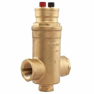 "Watt AS-MB-100 1"" FPT Microbubble Air Separator For Hydronic Heating Systems"