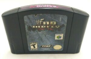 *WWE* WWF No Mercy Nintendo 64 Video game TESTED WORKS N64 *Authentic*