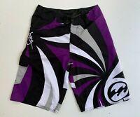 BILLABONG men's purple grey board surf beach knee length long shorts size 32