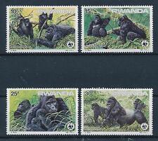 [54046] Rwanda 1985 Wild animals Mammals WWF Gorilla MNH