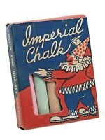 VINTAGE full BOX OF IMPERIAL multi-color CHALK IMPERIAL CRAYON CO 1950s #712