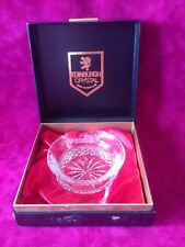 BOXED EDINBURGH CRYSTAL BOWL Etched Thistle Pattern. Signed