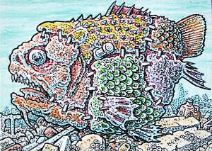 ACEO  Fantasy Original Fish 'n Stein