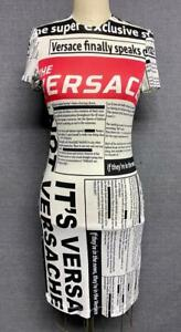 VERSACE RUNWAY Newspaper Tabloid Print Dress New With Tags Retail $995