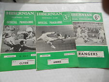3 Hibernian Football Programmes From The 1960's - Includes V Rangers