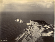 Angleterre, ile de Wight, The Needles Vintage albumen print  Tirage albuminé