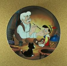 Pinocchio Collection Geppetto Creates Pinocchio Plate #1 Knowles Classic Disney
