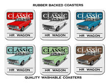HOLDEN  HR  STATION  WAGON     186        SET OF  6   RUBBER DRINK  COASTERS