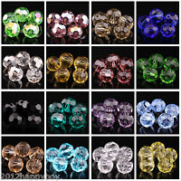 Lots Of 100PCS Faceted Clear Crystal Round Loose Spacer Beads 4mm Jewelry Making