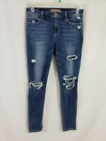 Joes Jeans Skinny Ankle Womens Denim Blue Jeans Size 30 x 31 Destroyed Med Wash