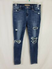 Joes Jeans Skinny Ankle Womens Denim Blue Jeans Size 30 x 31 Destroyed Med Wash