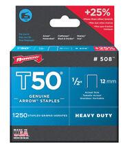 Arrow 508 T50 1/2-Inch Staples, 1,250-Count