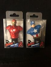 MARVEL AVENGERS CAPTAIN AMERICA IRON MAN PAPERWEIGHT LOT FIGURINE BUST NEW