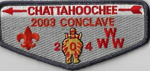 OA Chattahoochee Lodge 204 2003 Conclave Flap DGY Bdr. GA [MX-8147]