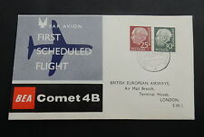 Bund, 186 + 259 - BEA-Flug Comet4B  Brief Terminal London