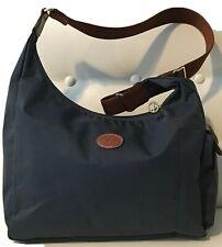 Women's Longchamp Le Pliage Gray Nylon Crossbody Messenger Hobo Shoulder Bag