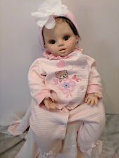 """Down Syndrome baby doll 18"""" Special needs reborn baby."""