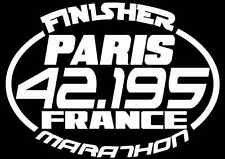 2018 Or Any year Paris Marathon France Finisher Decal Sticker Running