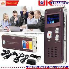 8GB ricaricabile Registratore Vocale Digitale Audio Dittafono MP3 Player RECORD IN ACCIAIO