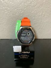 New Casio AE1000W-4BV, Watch, World Time, 5 Alarms, Illuminator, 10 Year Battery