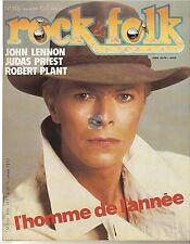 REVUE : Rock & Folk # 205 david bowie lennon judas priest robert plant van halen