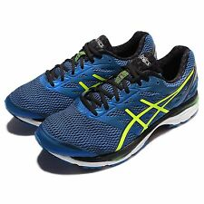 Asics Gel-Cumulus 18 2E Wide Navy Yellow Black Mens Running Shoes T6C4N-4507